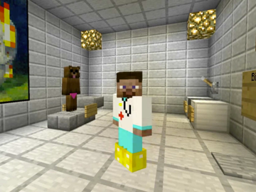Minecraft image courtesty Eighth Wonder via YouTube