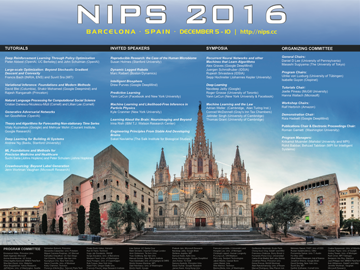 Poster for thirtieth annual conference on Neural Information Processing Systems (NIPS)
