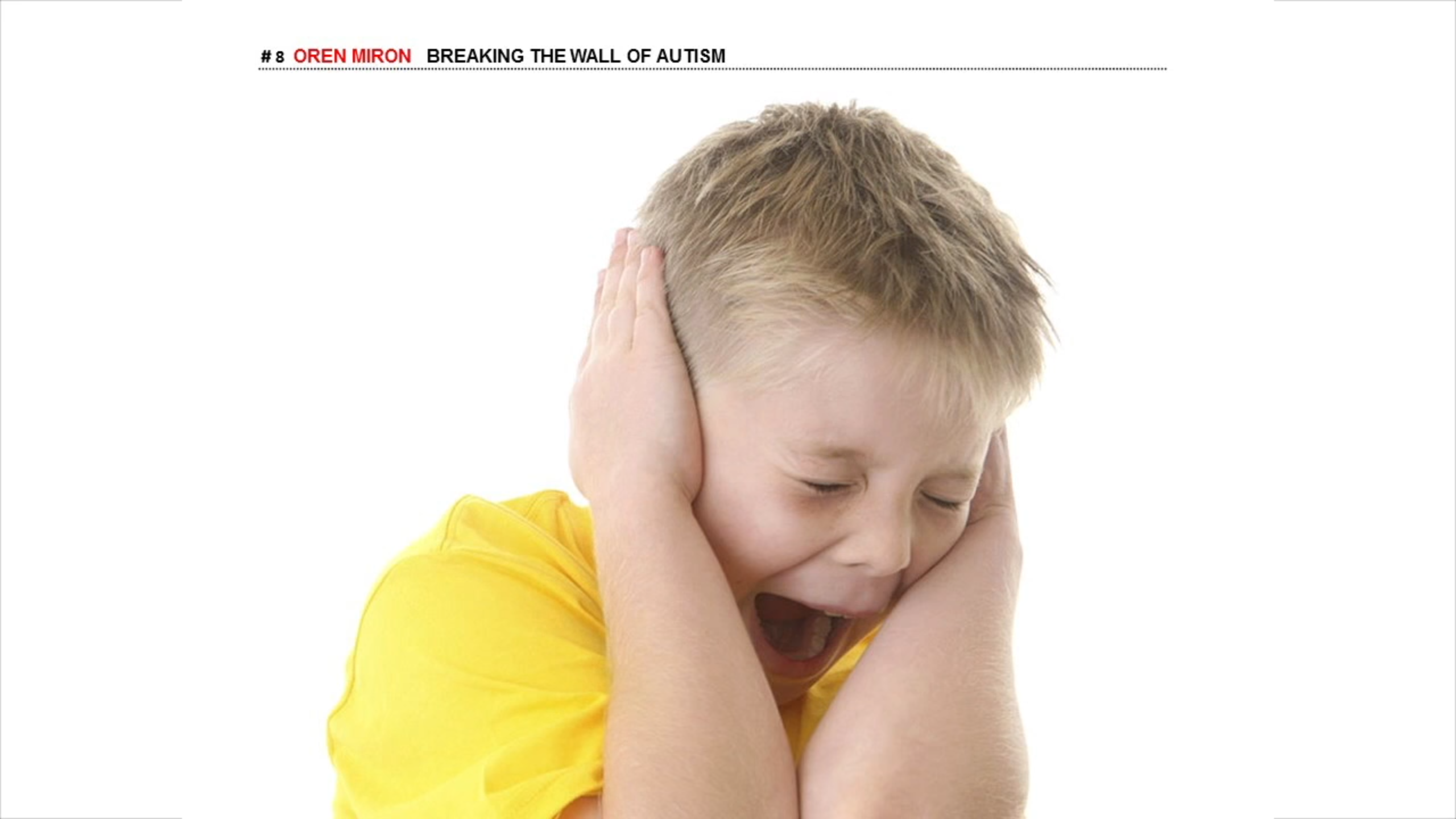 child holding ears and screaming